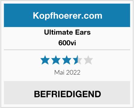 Ultimate Ears 600vi Test