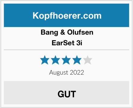 Bang & Olufsen EarSet 3i Test