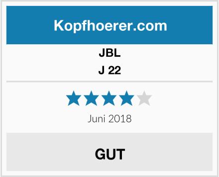 JBL J 22 Test