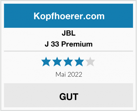 JBL J 33 Premium Test