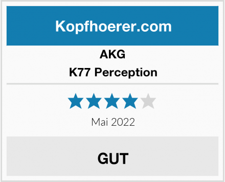 AKG K77 Perception Test