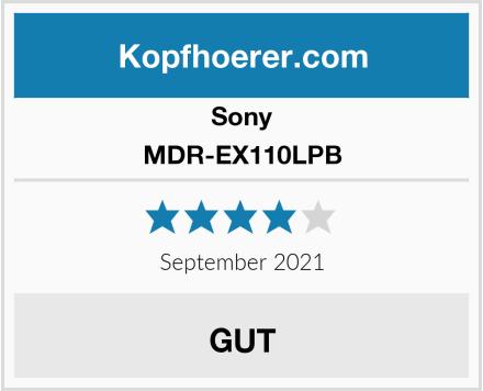 Sony MDR-EX110LPB Test