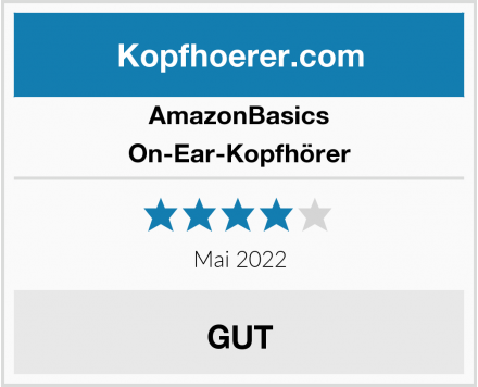 AmazonBasics On-Ear-Kopfhörer Test