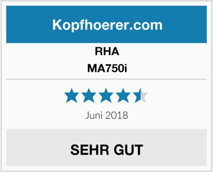 RHA MA750i Test