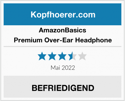 AmazonBasics Premium Over-Ear Headphone Test