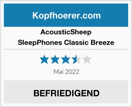 AcousticSheep SleepPhones Classic Breeze Test