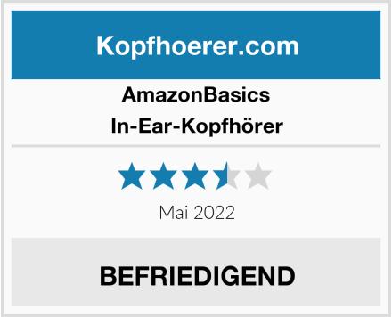 AmazonBasics In-Ear-Kopfhörer Test
