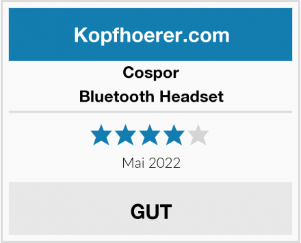 Cospor Bluetooth Headset Test