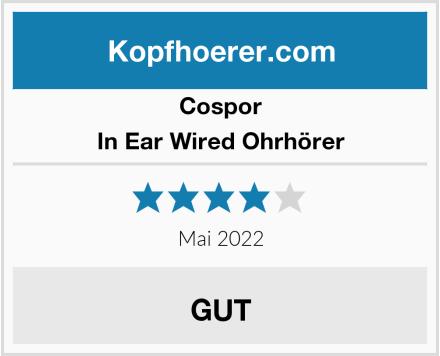 Cospor In Ear Wired Ohrhörer Test