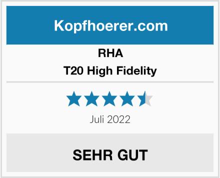 RHA T20 High Fidelity Test