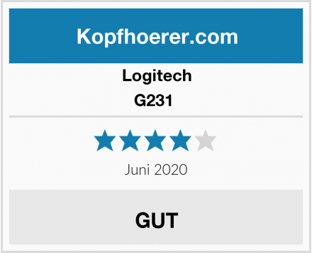 Logitech G231  Test