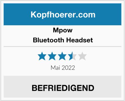Mpow Bluetooth Headset Test