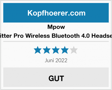 Mpow Ritter Pro Wireless Bluetooth 4.0 Headset  Test