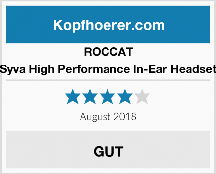 ROCCAT Syva High Performance In-Ear Headset Test