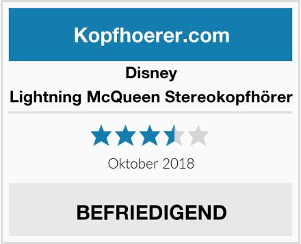 Disney  Lightning McQueen Stereokopfhörer Test