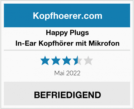Happy Plugs In-Ear Kopfhörer mit Mikrofon Test