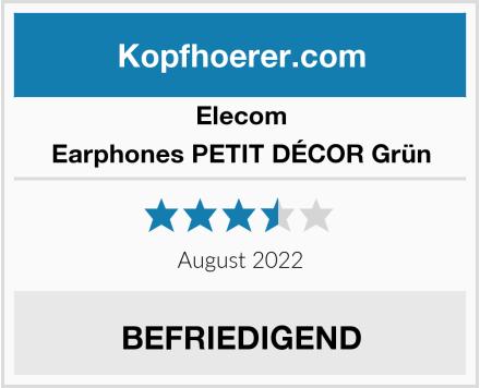 Elecom Earphones PETIT DÉCOR Grün Test