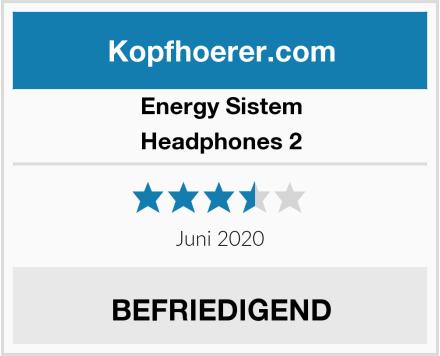 Energy Sistem Headphones 2 Test