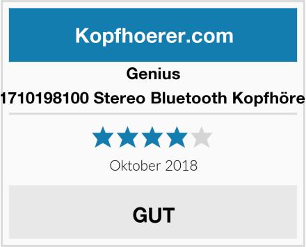 Genius 31710198100 Stereo Bluetooth Kopfhörer  Test
