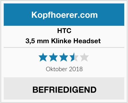 HTC 3,5 mm Klinke Headset  Test