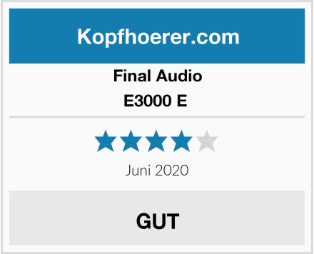 Final Audio E3000 E  Test