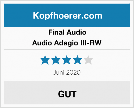 Final Audio Audio Adagio III-RW Test