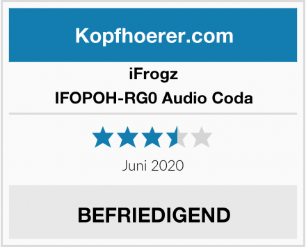 iFrogz IFOPOH-RG0 Audio Coda Test