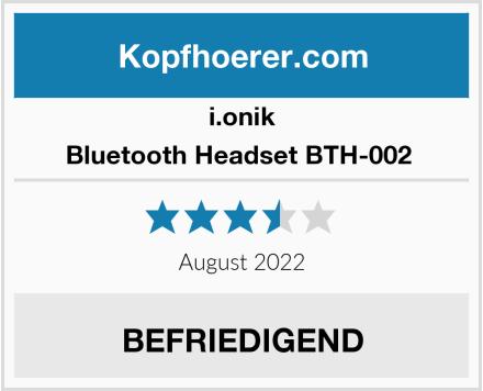 i.onik Bluetooth Headset BTH-002  Test