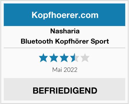 Nasharia Bluetooth Kopfhörer Sport Test