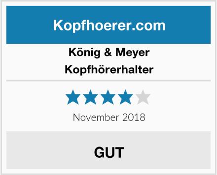 König & Meyer Kopfhörerhalter Test