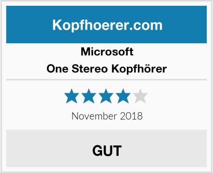 Microsoft One Stereo Kopfhörer Test