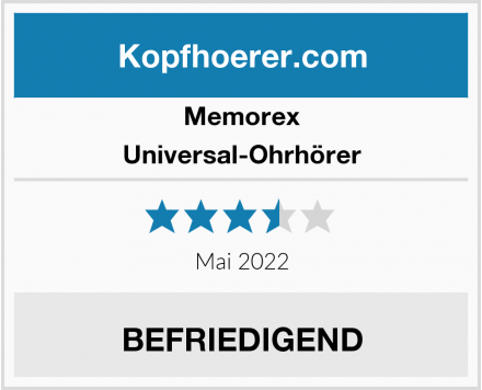 Memorex  Universal-Ohrhörer Test