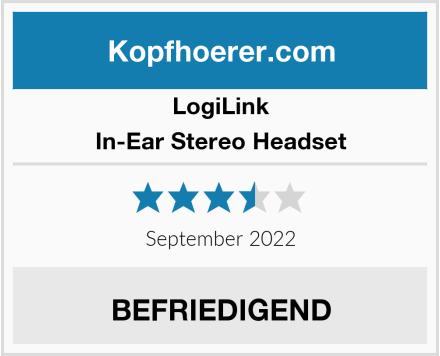 LogiLink In-Ear Stereo Headset  Test