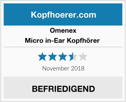 Omenex Micro in-Ear Kopfhörer  Test