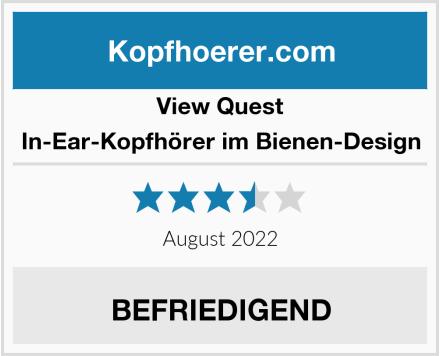 View Quest In-Ear-Kopfhörer im Bienen-Design Test