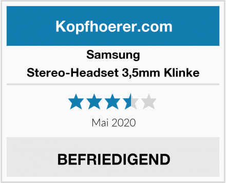 Samsung Stereo-Headset 3,5mm Klinke Test