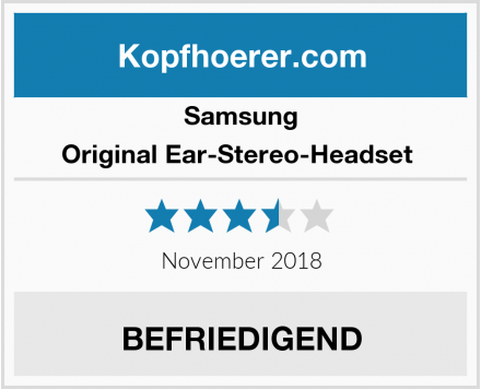 Samsung Original Ear-Stereo-Headset  Test