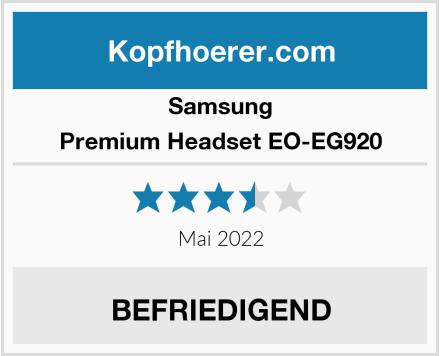 Samsung Premium Headset EO-EG920 Test