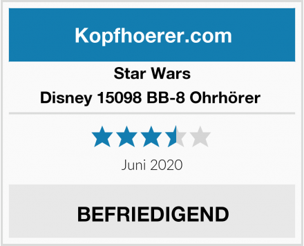 Star Wars Disney 15098 BB-8 Ohrhörer  Test