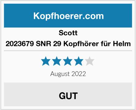 Scott 2023679 SNR 29 Kopfhörer für Helm Test