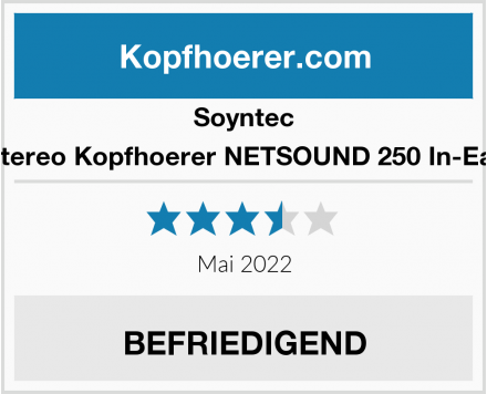 Soyntec Stereo Kopfhoerer NETSOUND 250 In-Ear Test