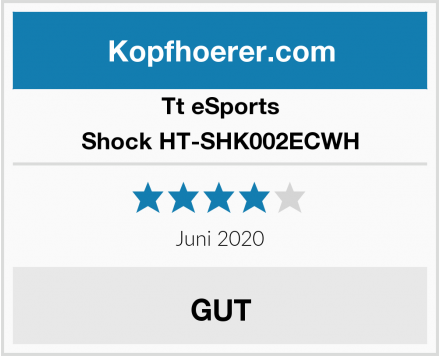 Tt eSports Shock HT-SHK002ECWH Test