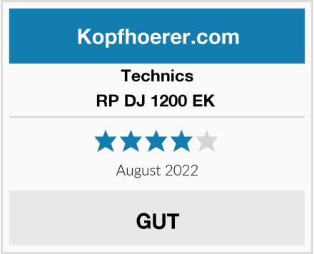Technics RP DJ 1200 EK  Test