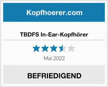 No Name TBDFS In-Ear-Kopfhörer Test