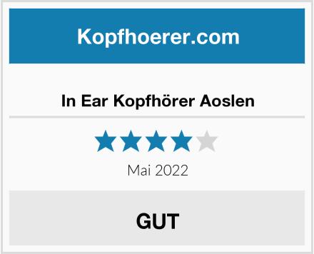 No Name In Ear Kopfhörer Aoslen Test
