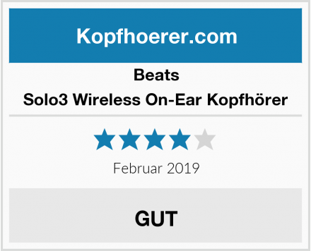 Beats Solo3 Wireless On-Ear Kopfhörer Test