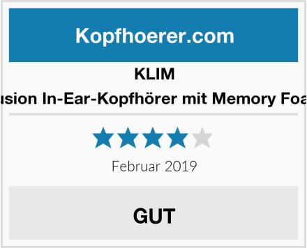 KLIM Fusion In-Ear-Kopfhörer mit Memory Foam Test