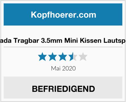 Manalada Tragbar 3.5mm Mini Kissen Lautsprecher Test