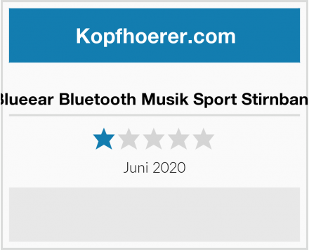 No Name Blueear Bluetooth Musik Sport Stirnband Test