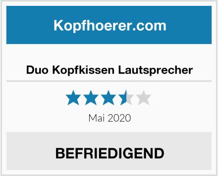 No Name Duo Kopfkissen Lautsprecher Test
